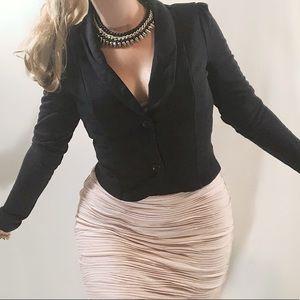Vintage VENUS black cropped blazer